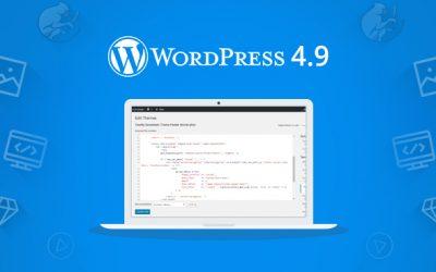 WordPress 4.9, cosa c'è di nuovo?